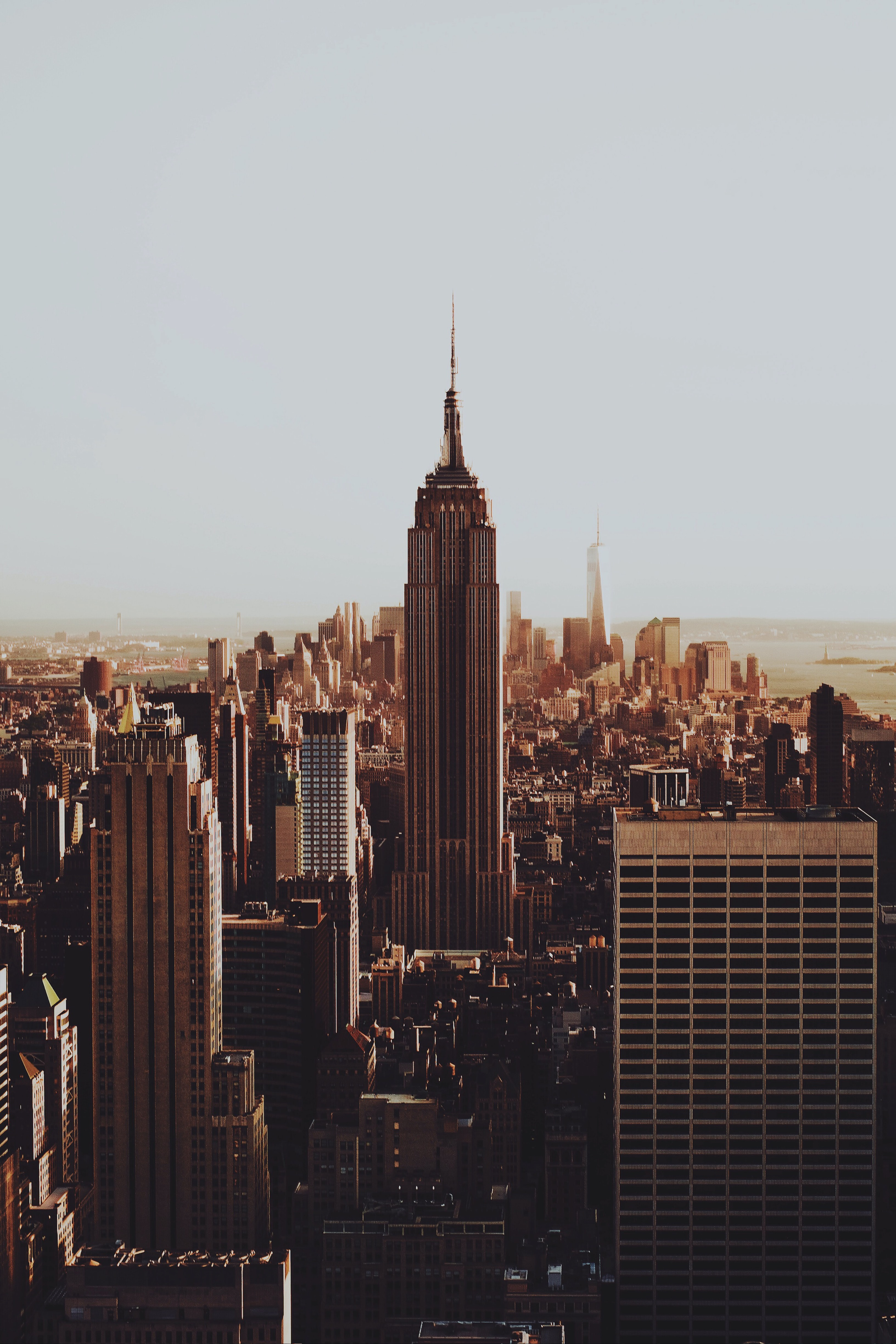 The Empire State Building against the skyline of New York