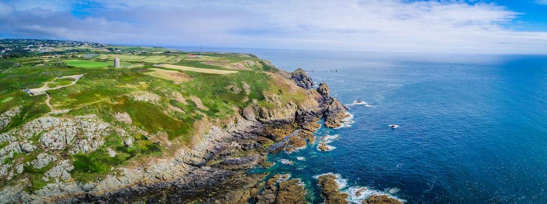Pleinmont cliffs, Guernsey