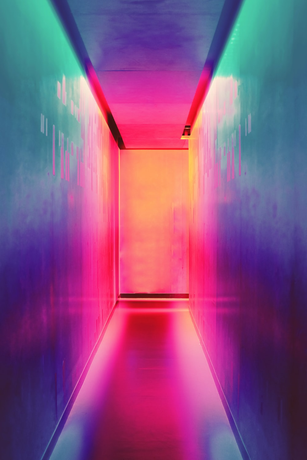 multicolored hallway