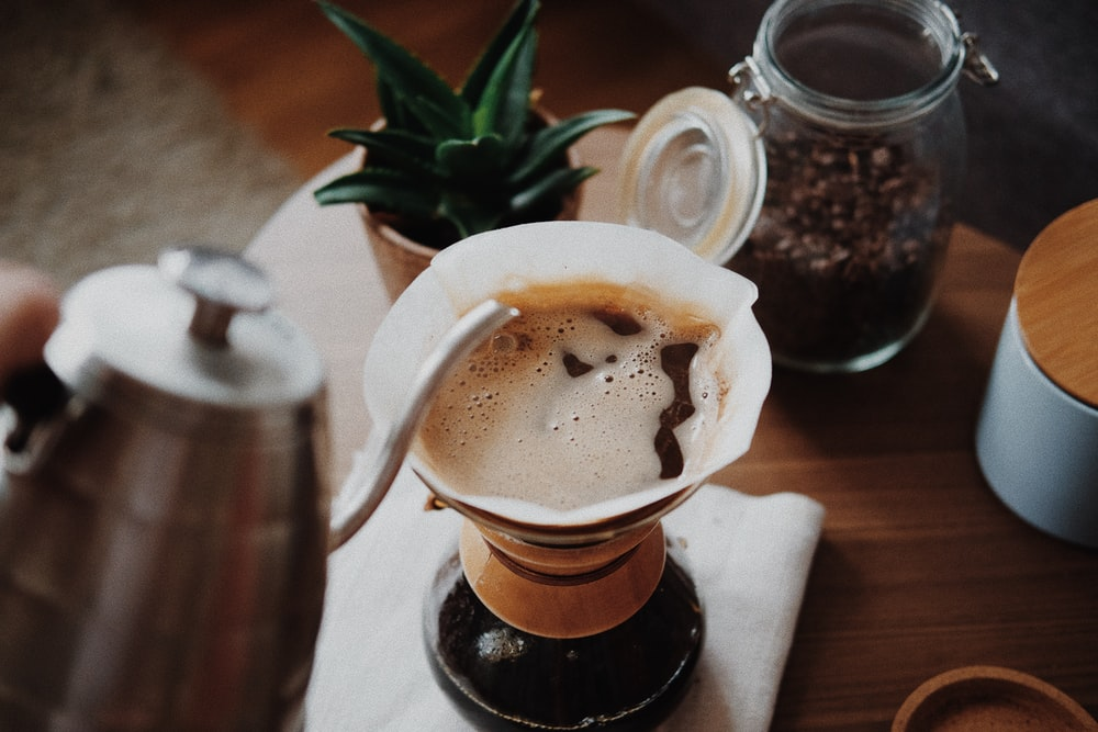 person pouring coffee into cup