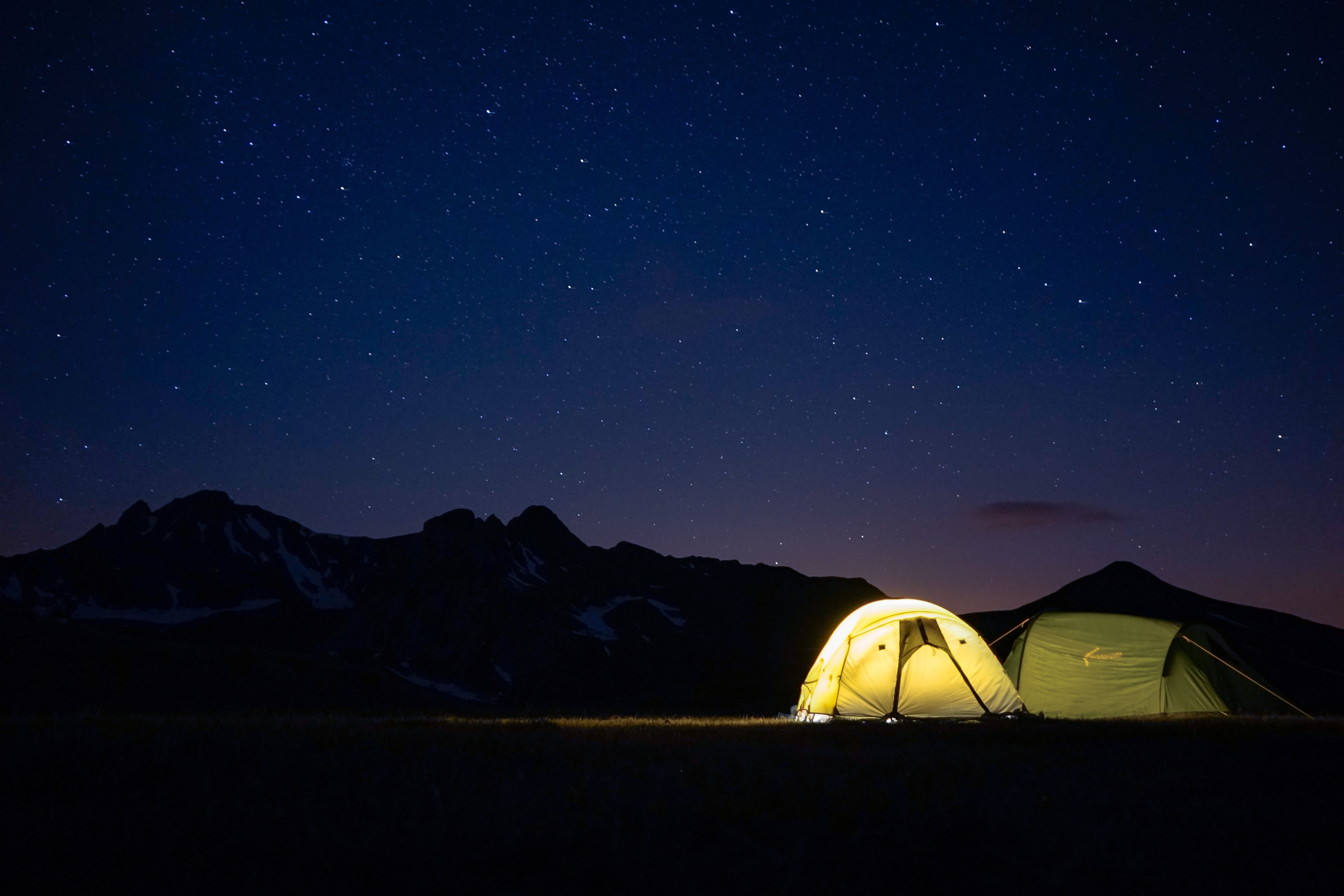 tent with light