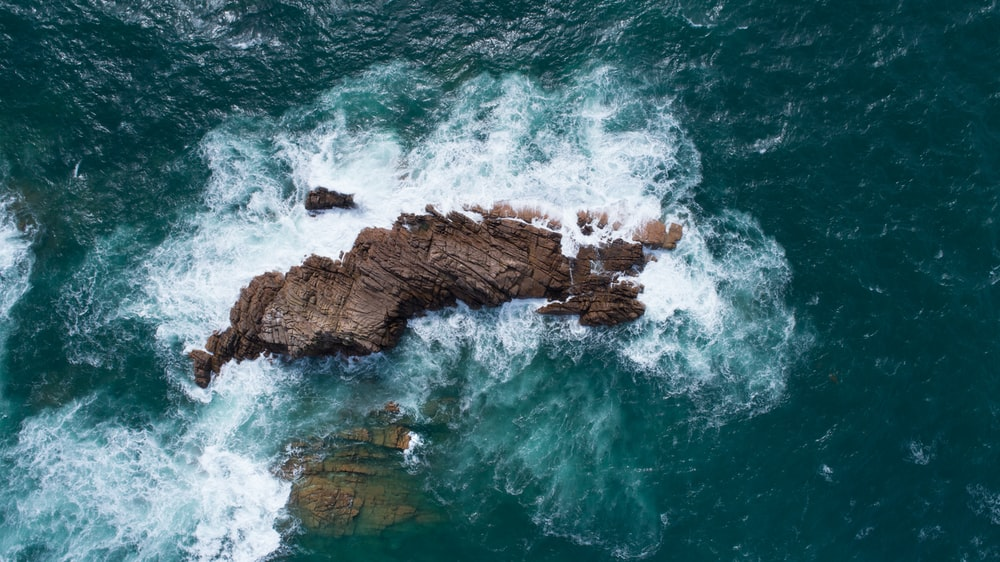 aerial view of islet