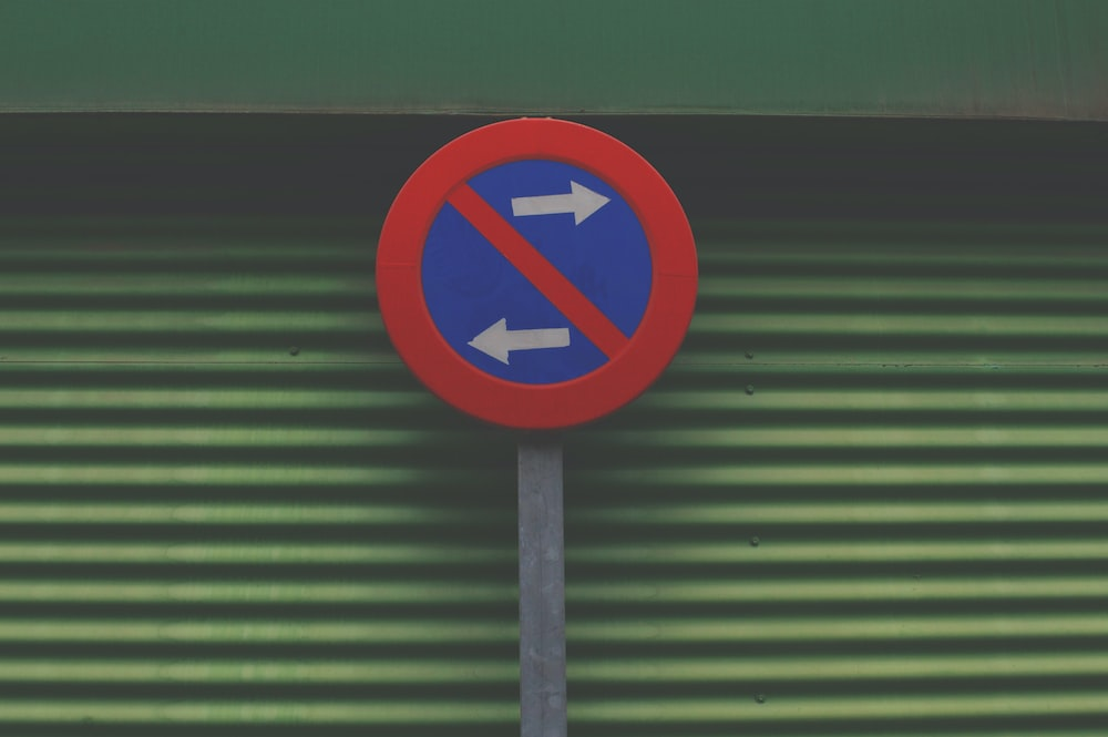 sign prohibiting going left or right
