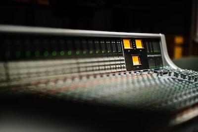 black and grey audio mixer