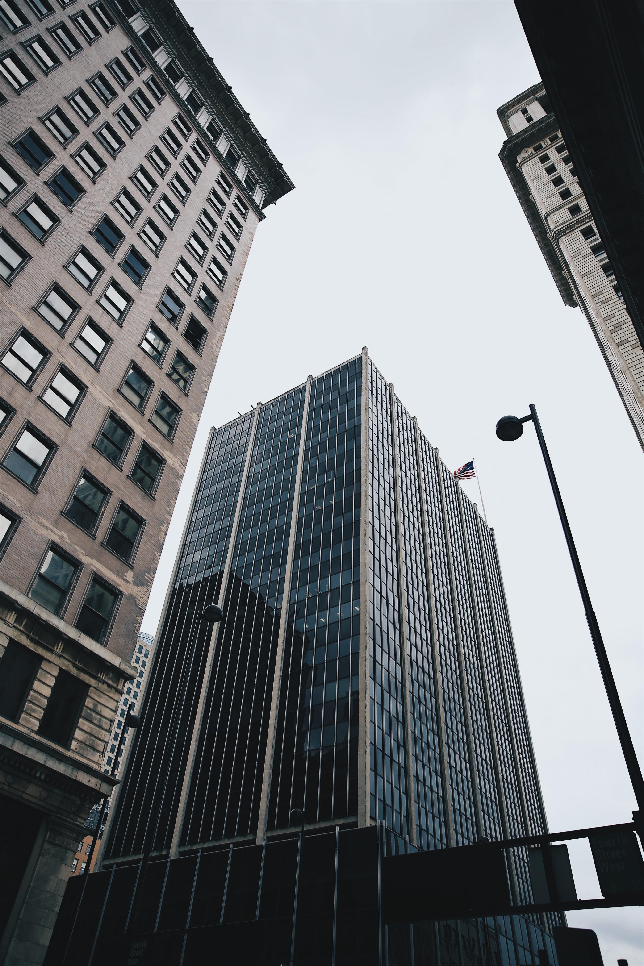 High-rises in Cincinnati on a cloudy day