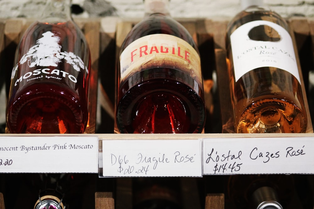 A collection of high class wine bottles in their packaging