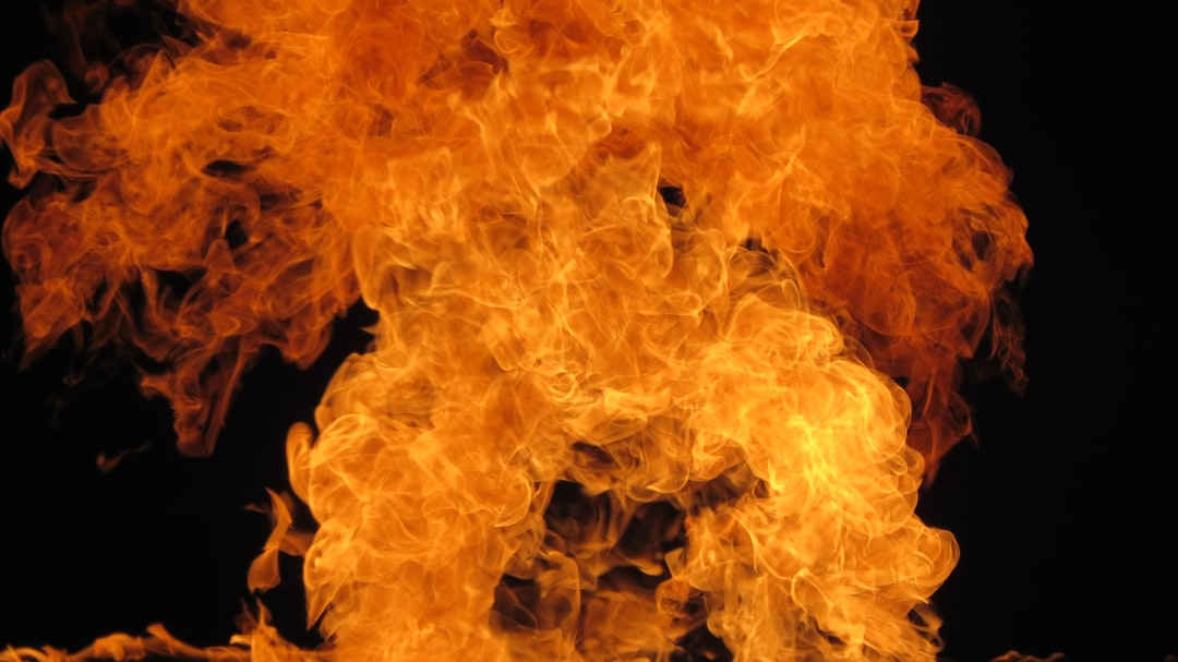 Intense flames