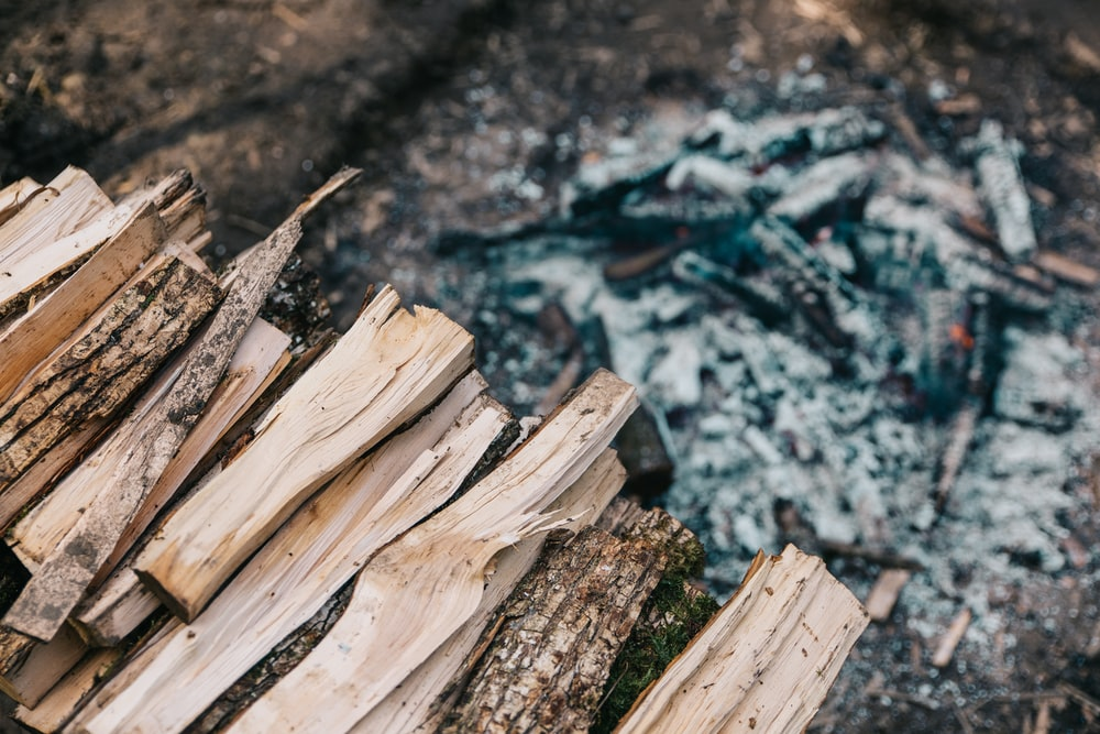 brown fire wood lot