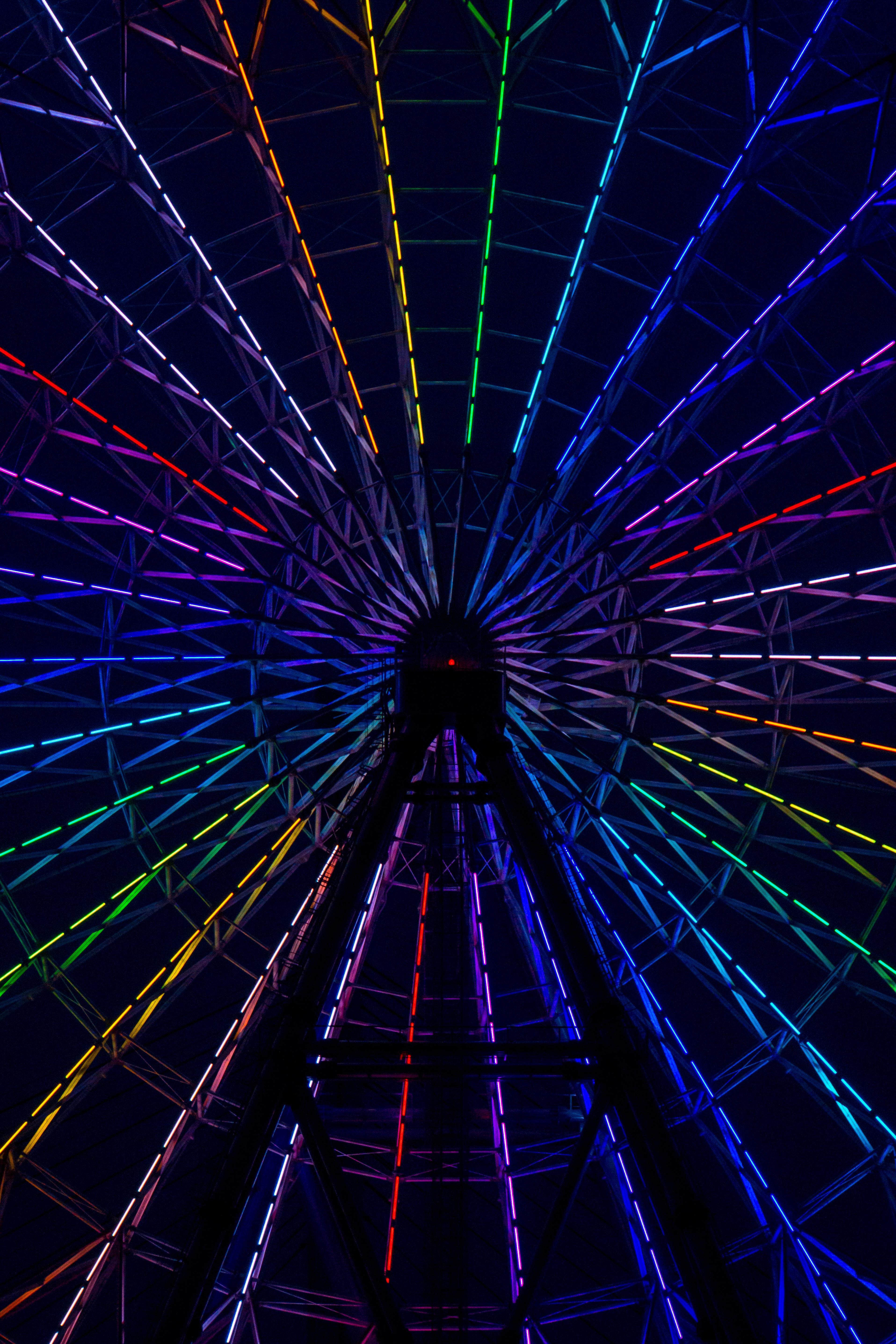 multicolored lighted ferris wheel