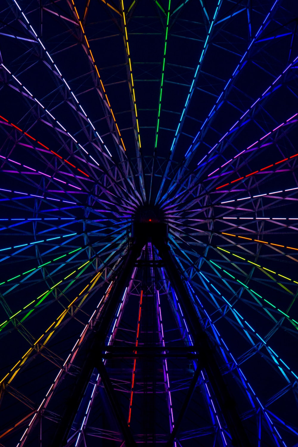 multicolored lighted ferris wheel