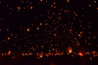 Lift off at Lantern Fest 2015