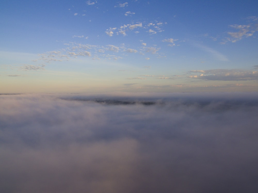 aerial view photography of cloudy sky