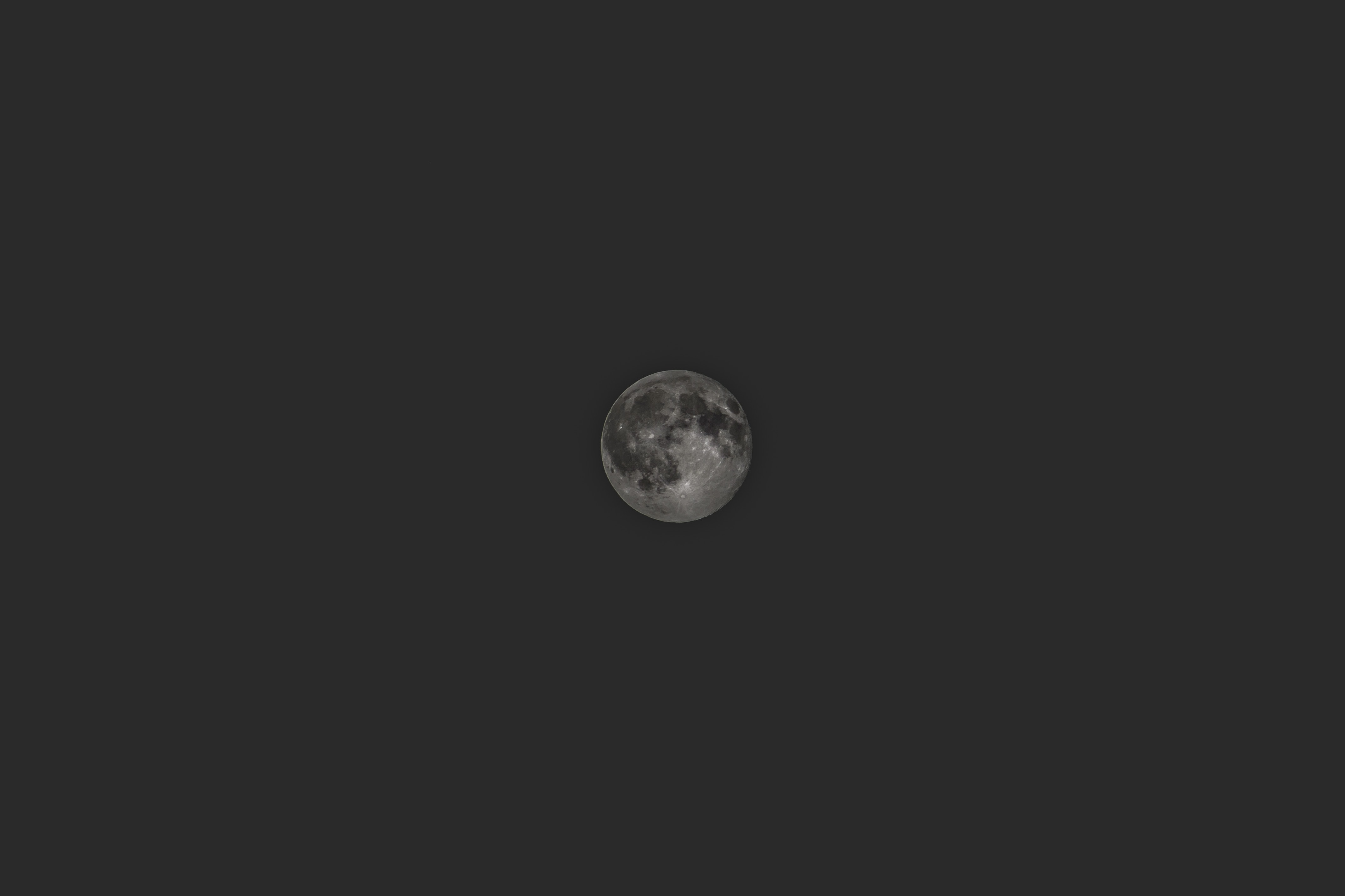 The full moon with visible dark spots as seen in Cluj-Napoca.