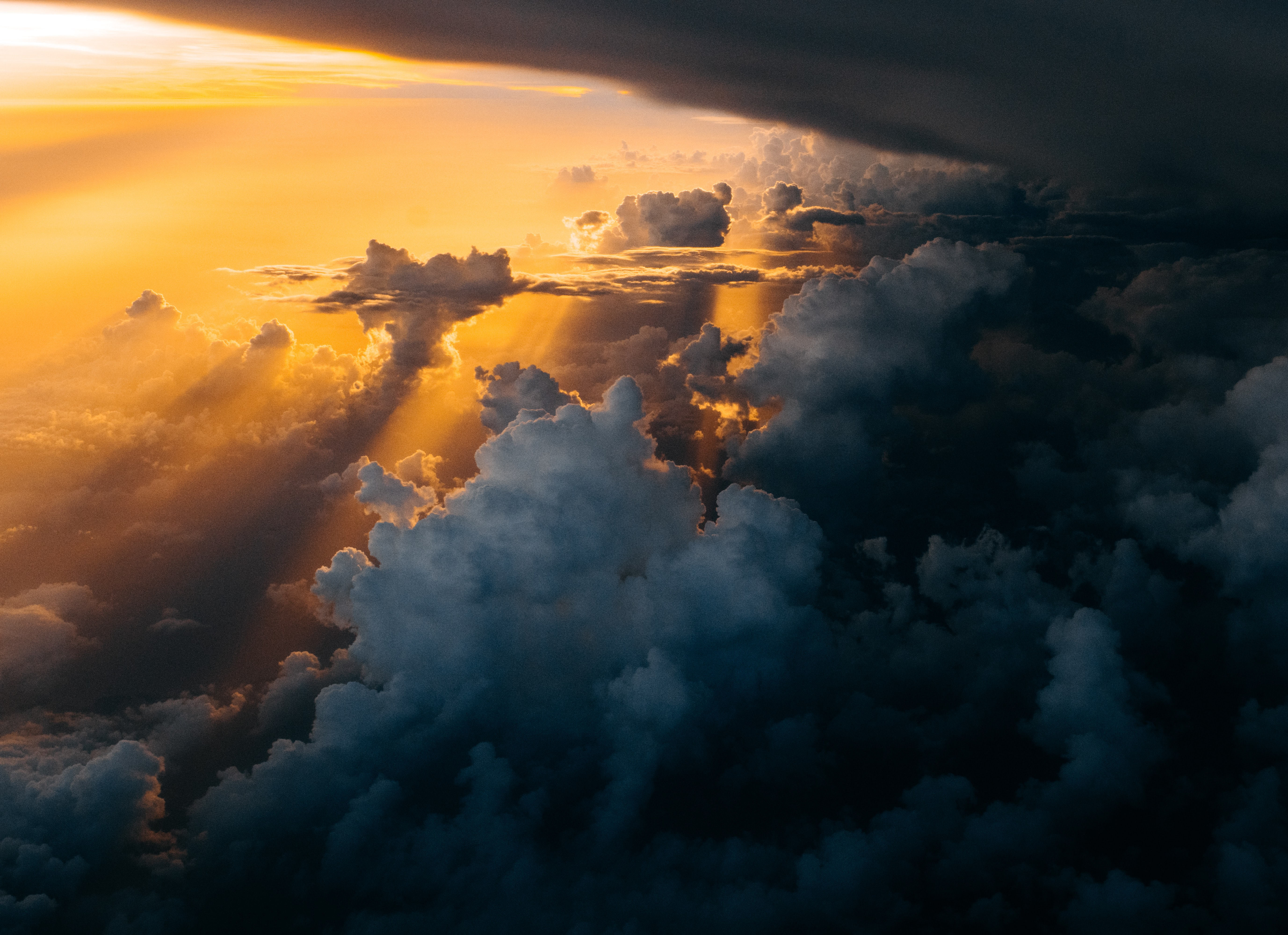 sunlight through clouds photography