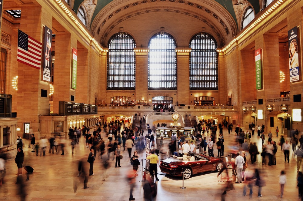 Grand Central Terminal timelapse photography of people