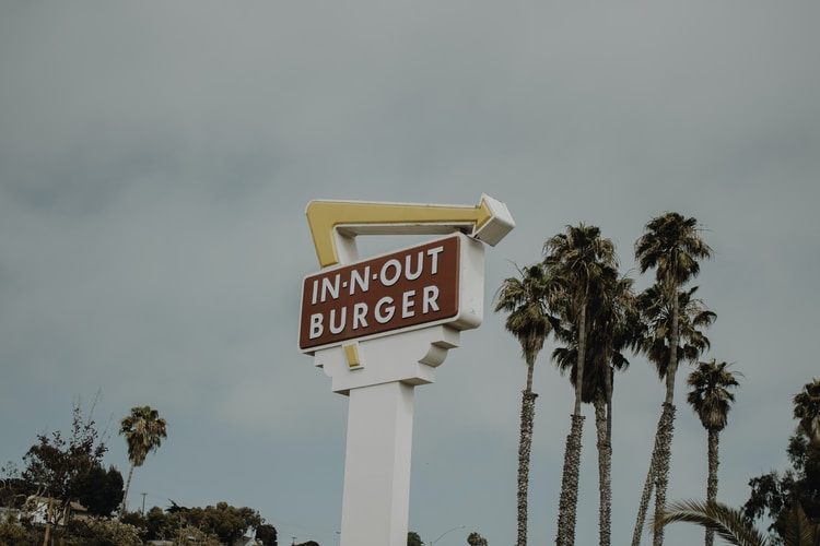 In-N-Out Burger signage during daytime