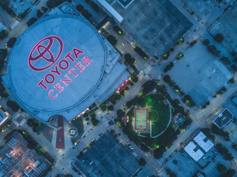 aerial photo of Toyota Center arena