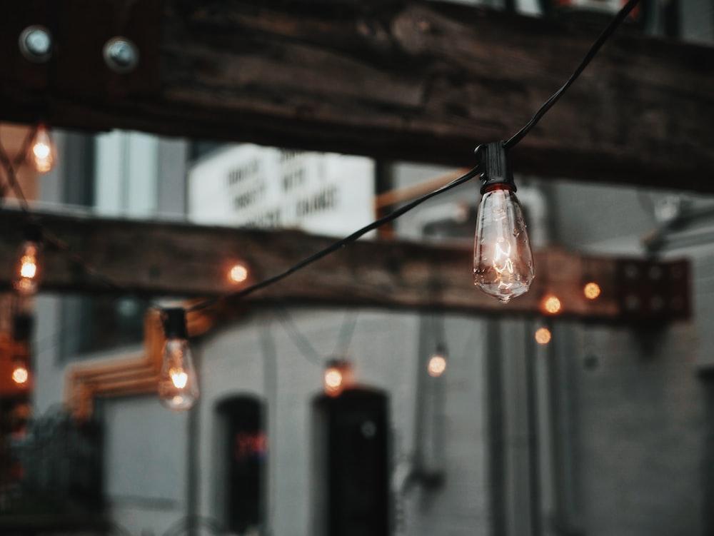 incandescent string light bulbs