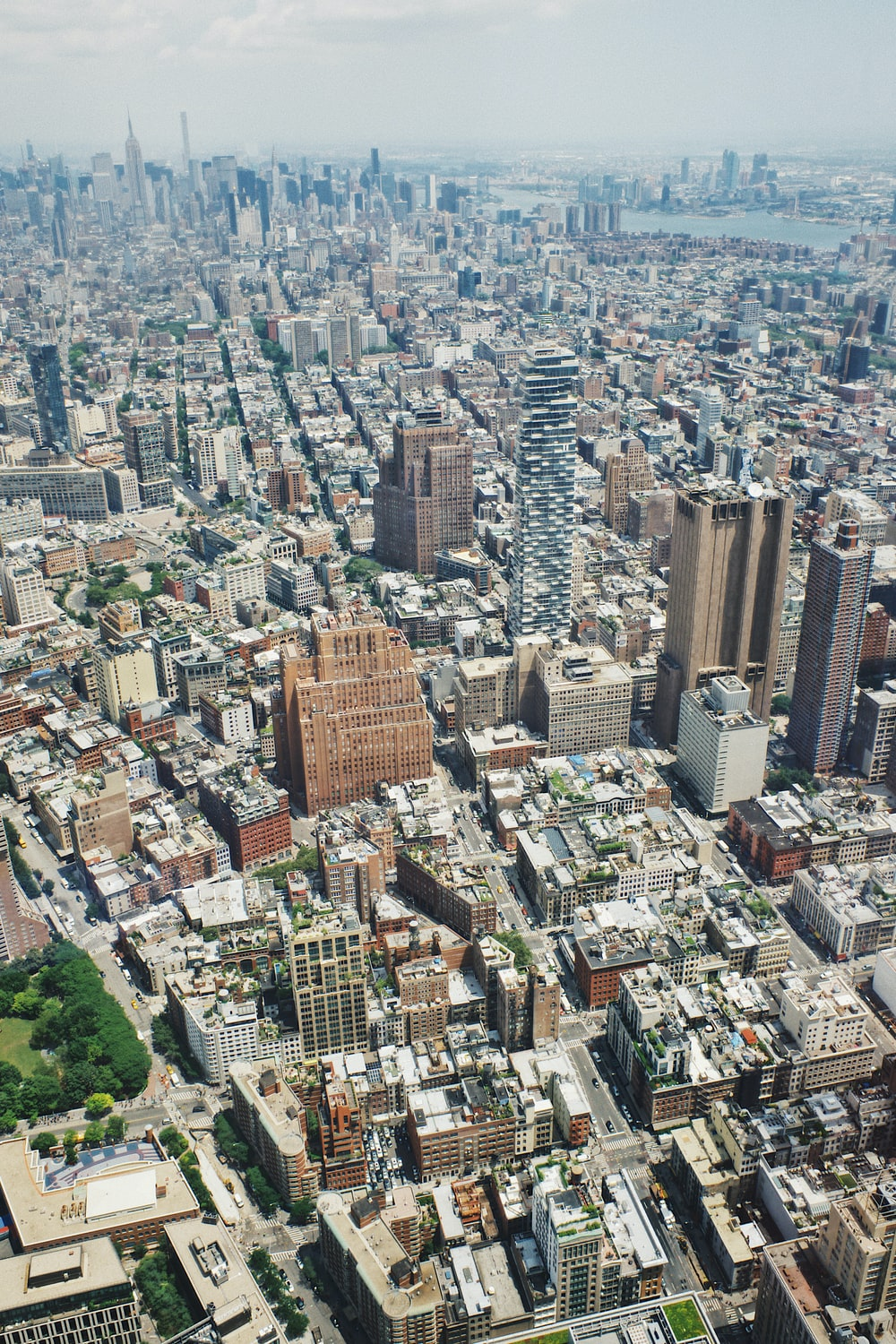aerial view of city during daytime