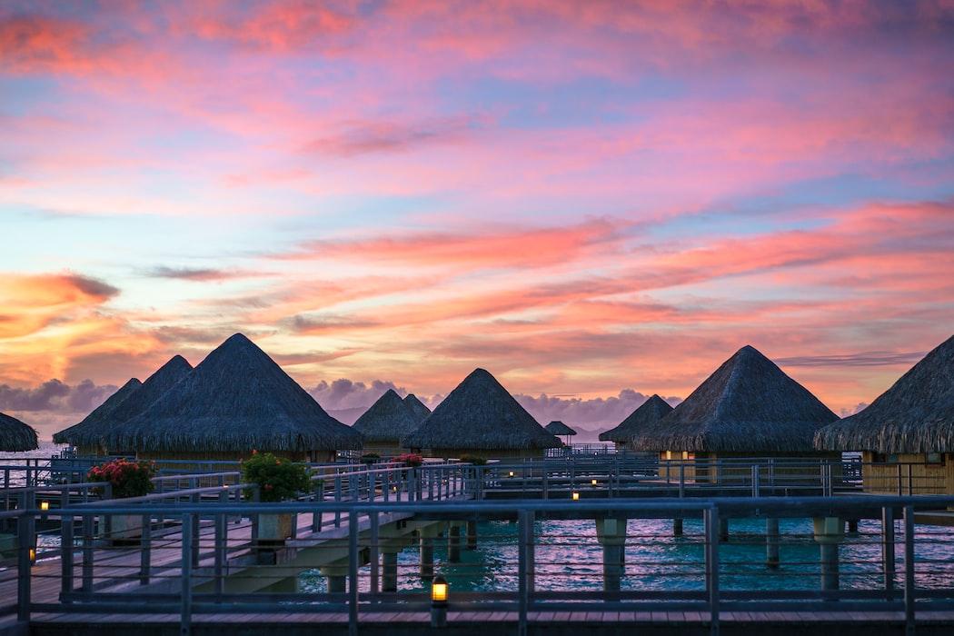Atardecer en Bora Bora