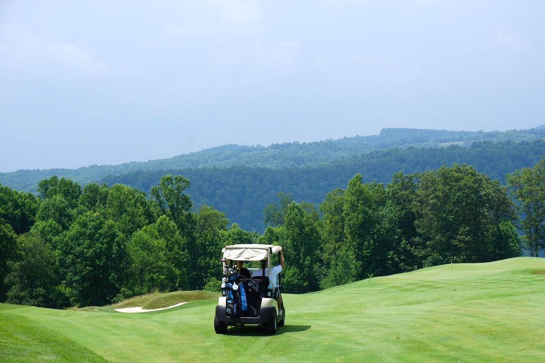 Golf cart on grass