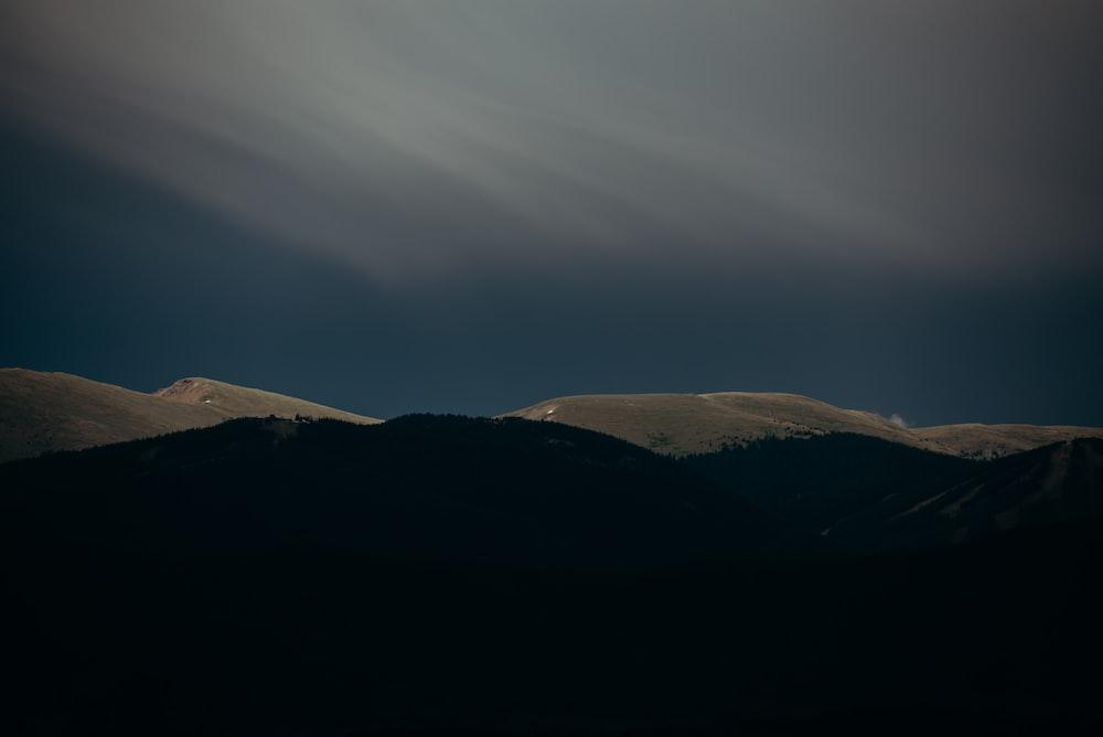 landscape photography of mountain terrain