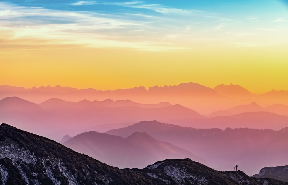 landscape photography of mountains
