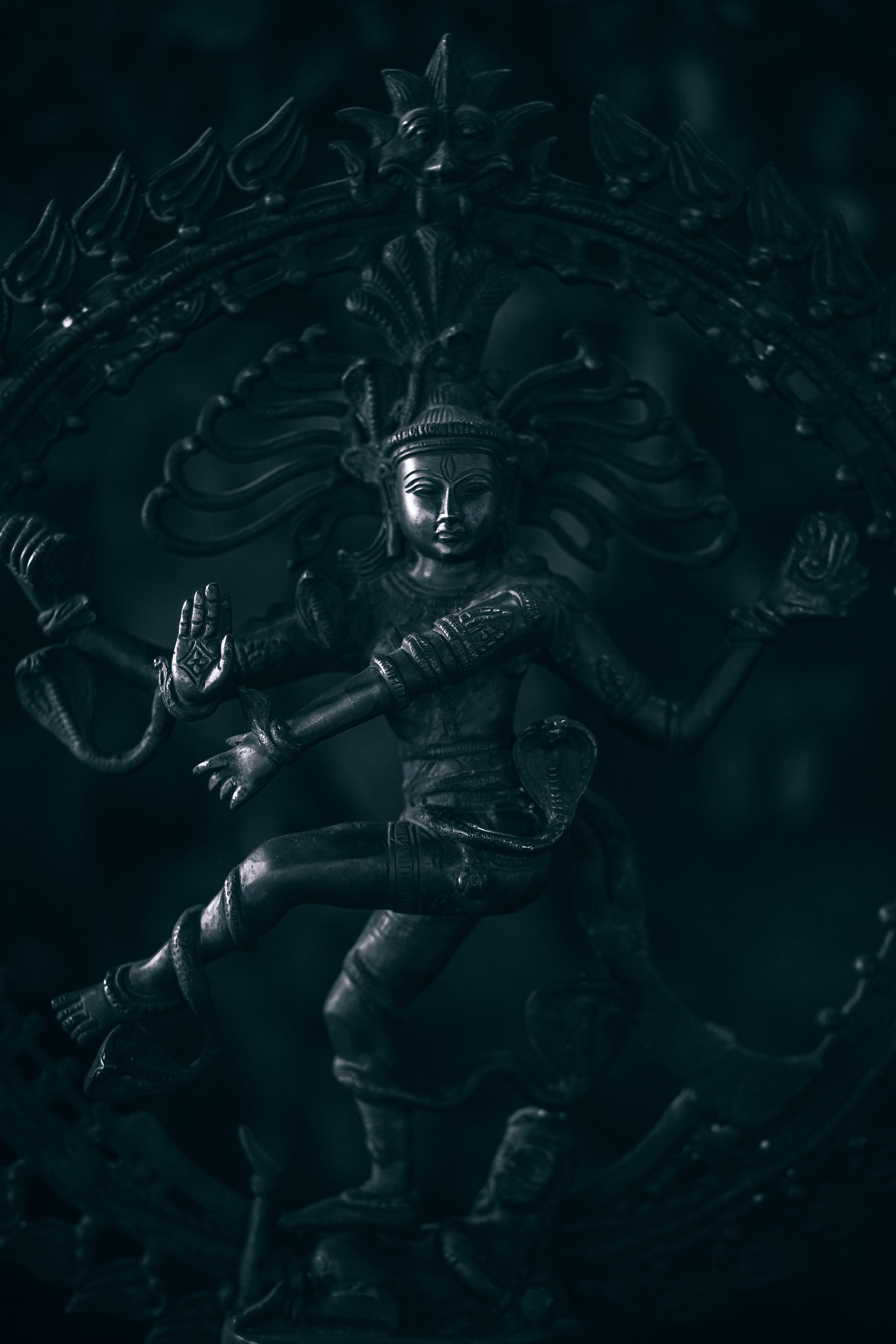 shallow focus photography of Dancing Shiva