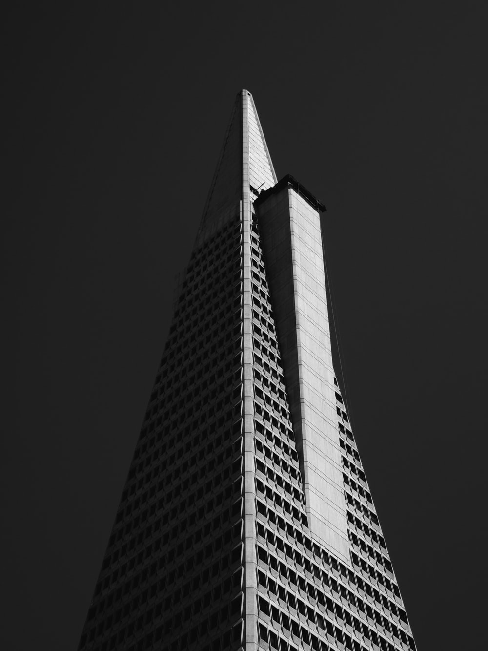 worm's eye-view of building