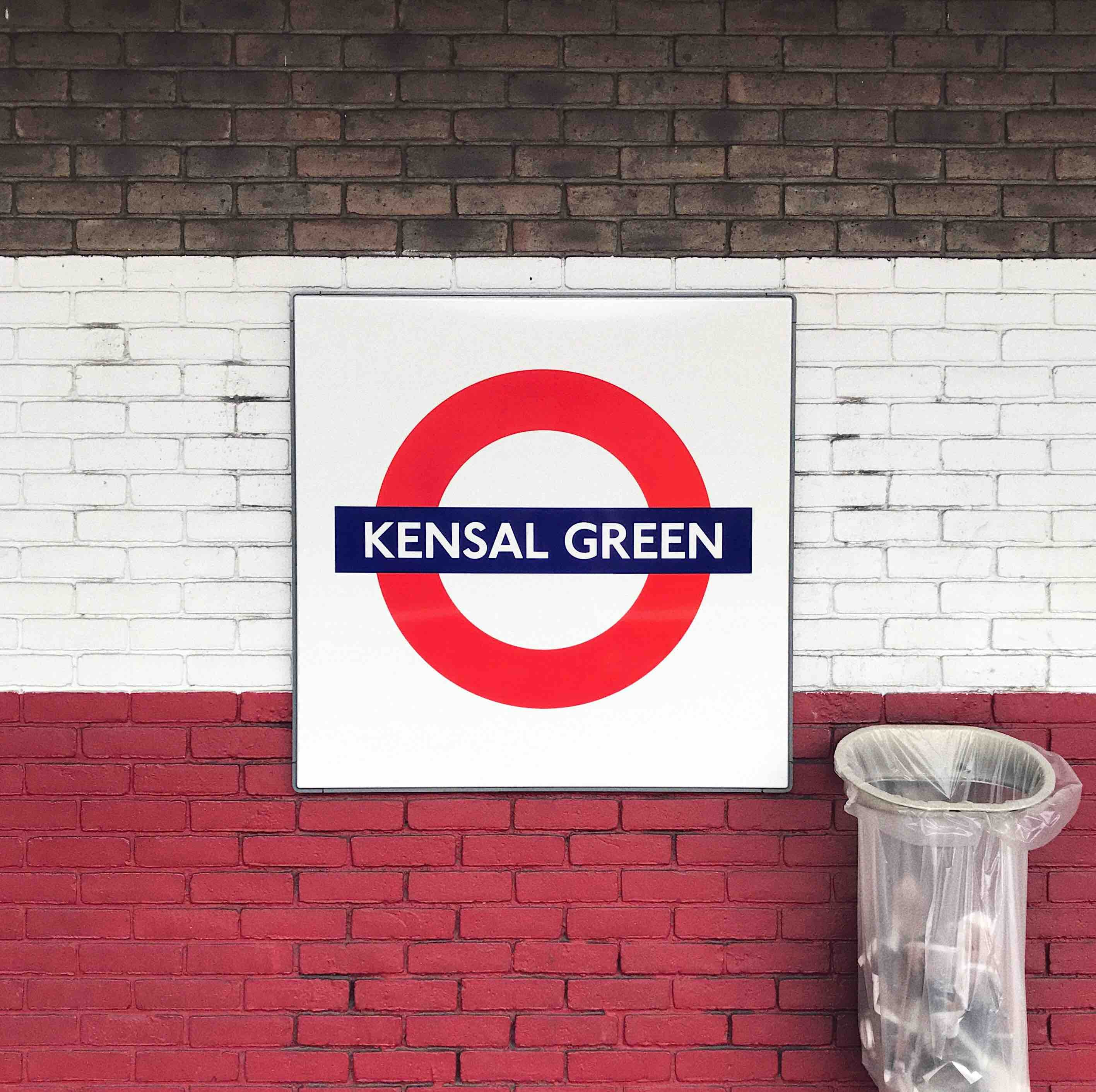Kensal Green printed wall