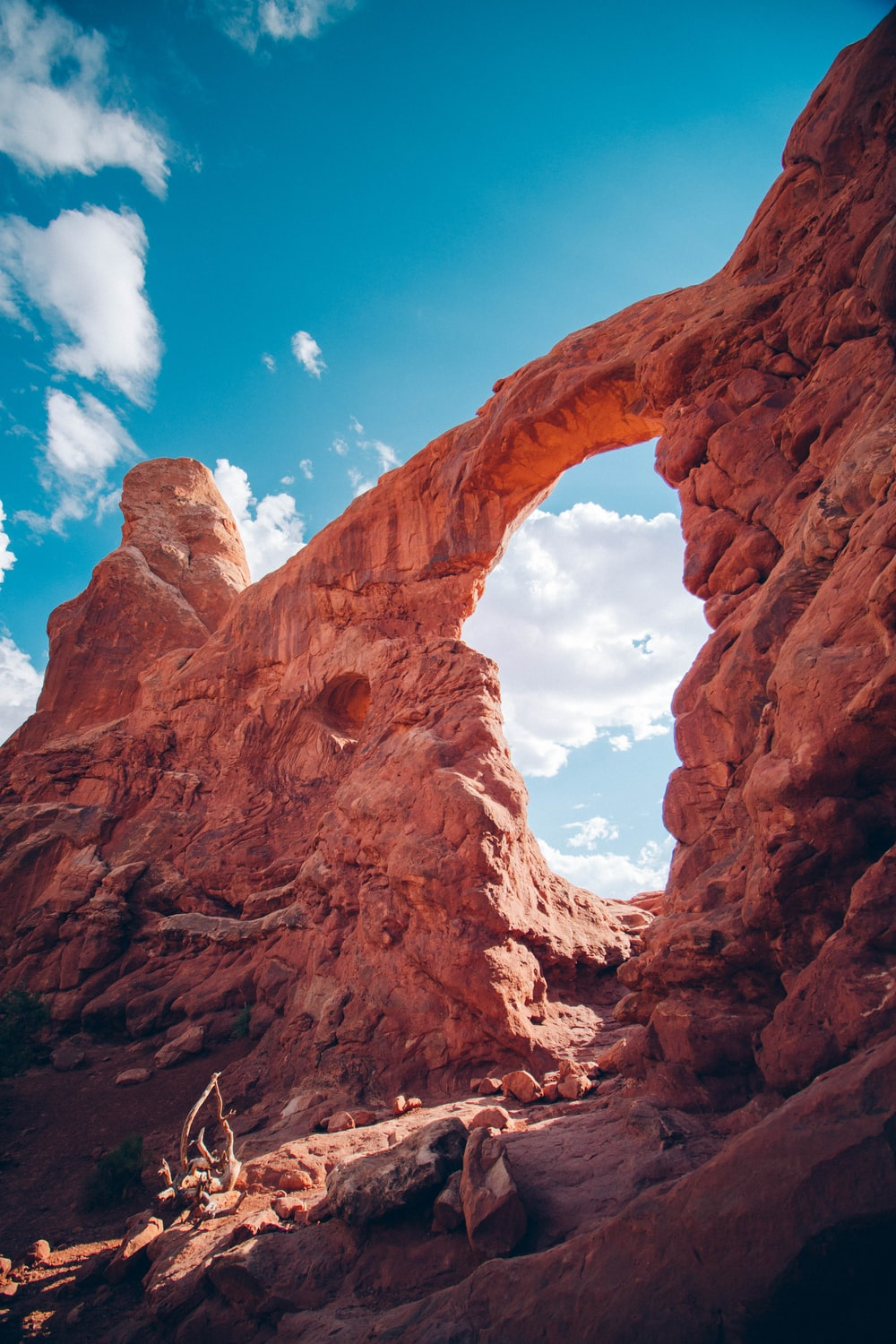 closeup photography of Arches National Park, Utah