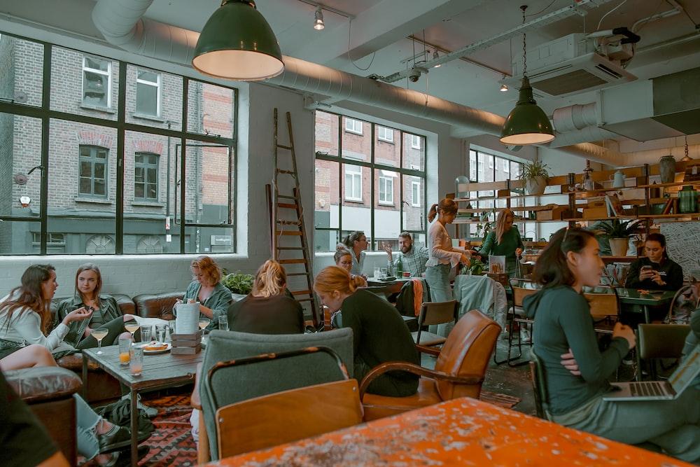 people inside restaurant