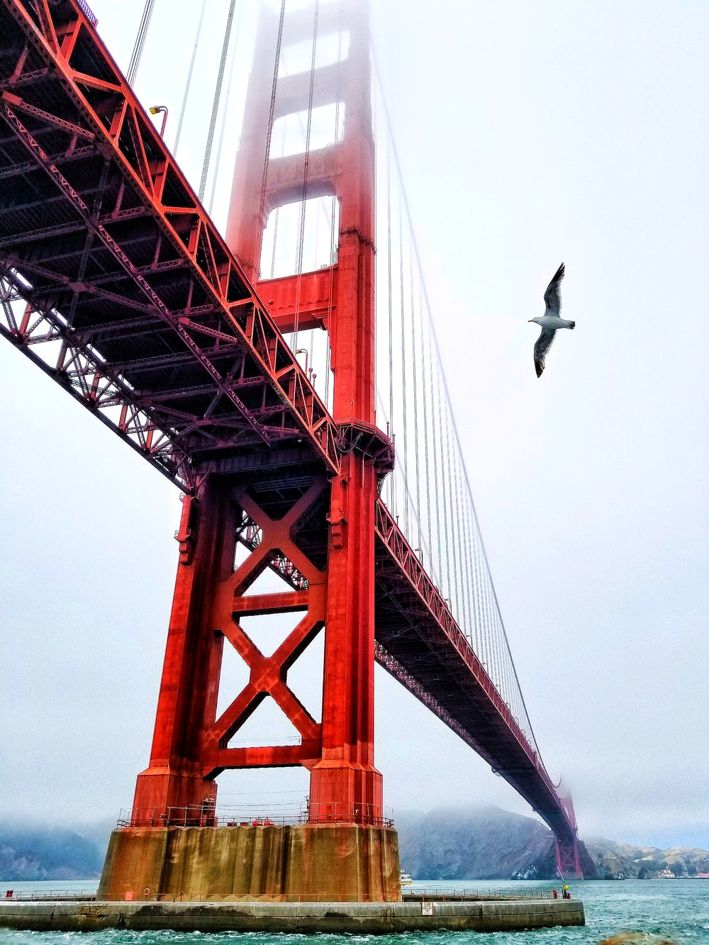 low angle photography of Golden State Bridge