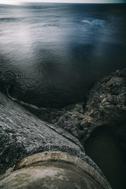 bird's-eye view of ocean