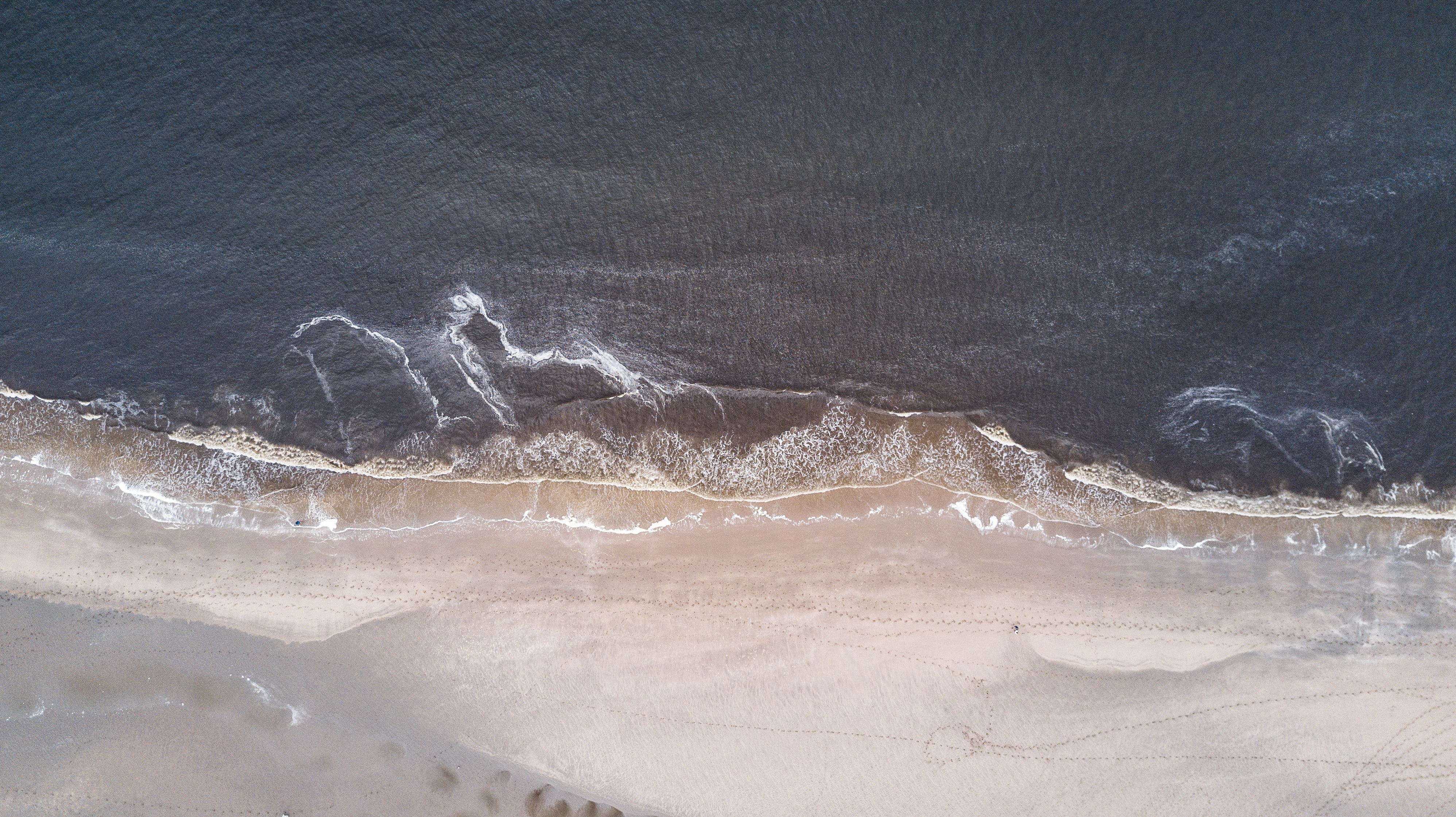 ocean waves aerial photography