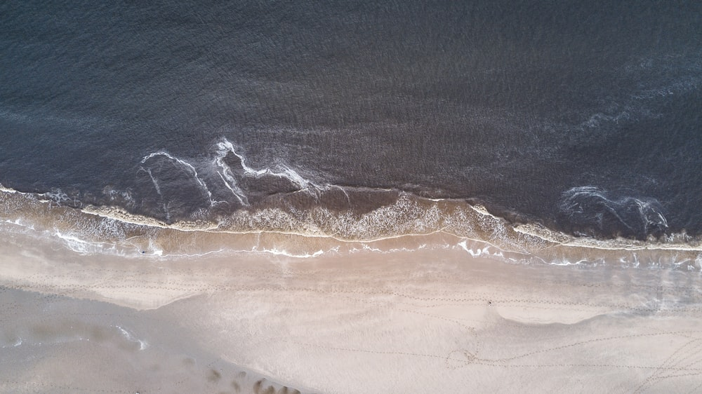 ocean waves aerial photography