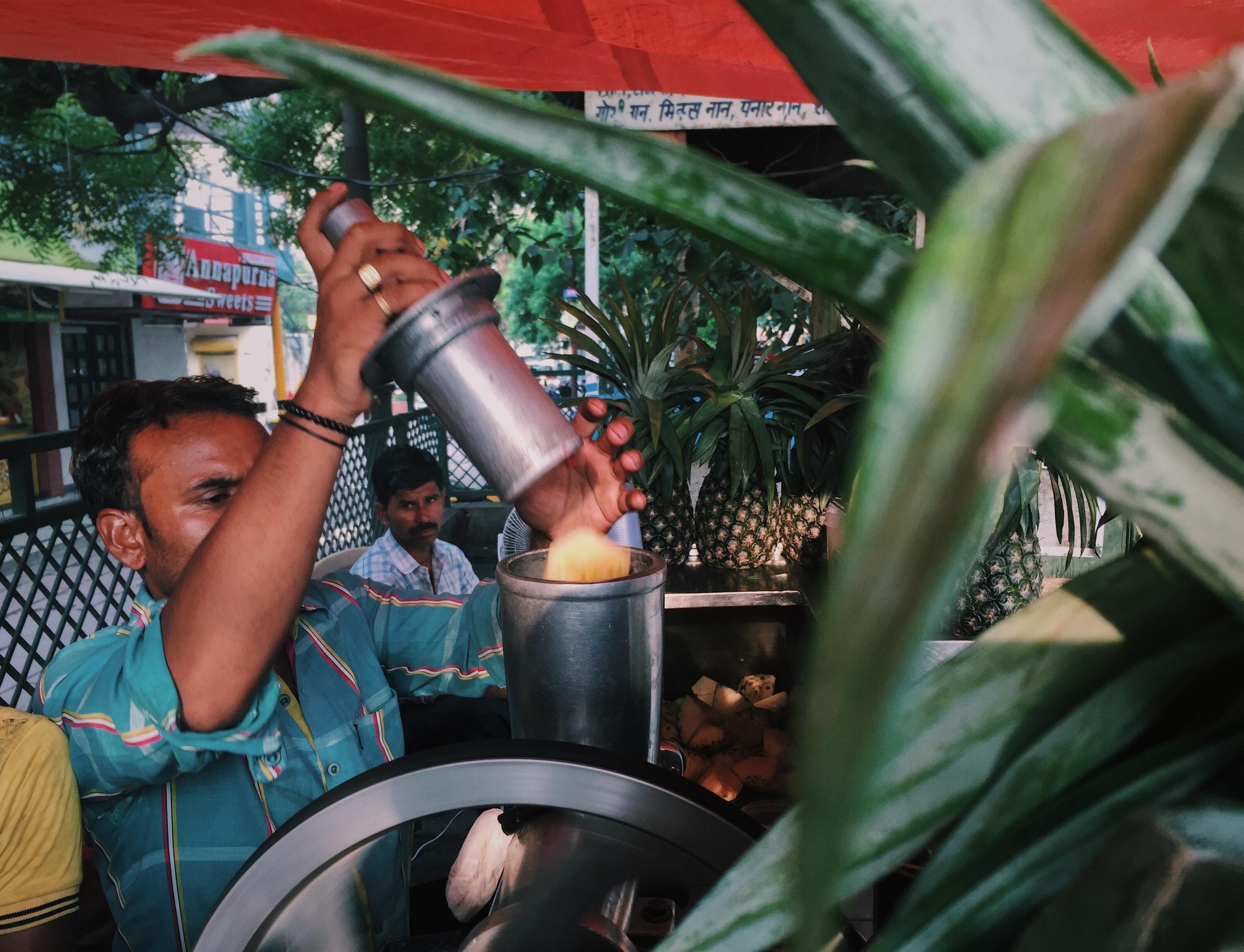 Making fresh juice.