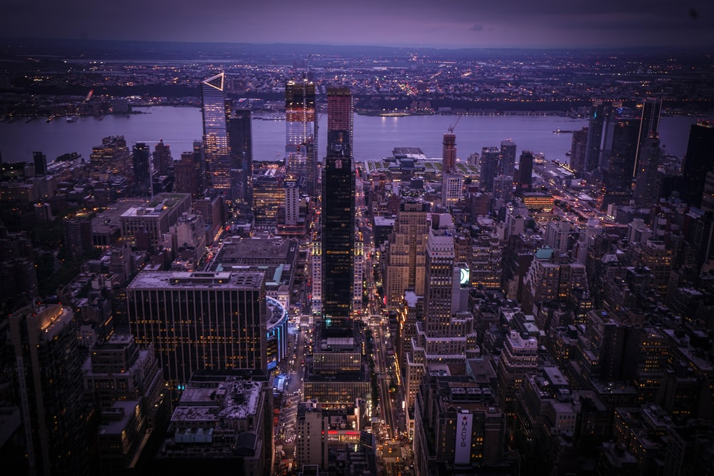 bird's eye-view photography of cityscape