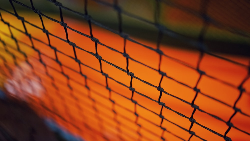 tilt-shift lens photo of mesh net