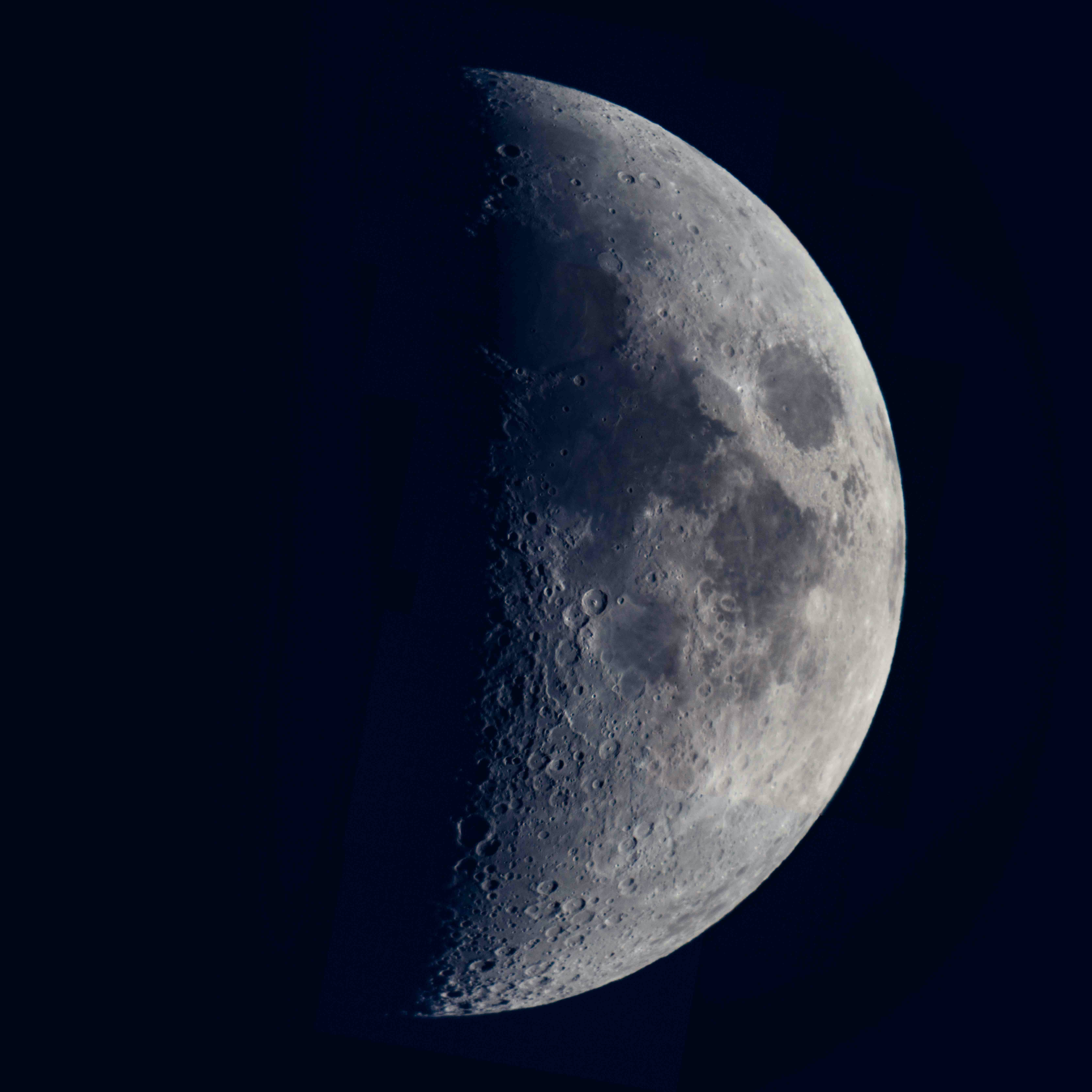 A close up shot taken from Bethlehem of the moon with its planes and craters