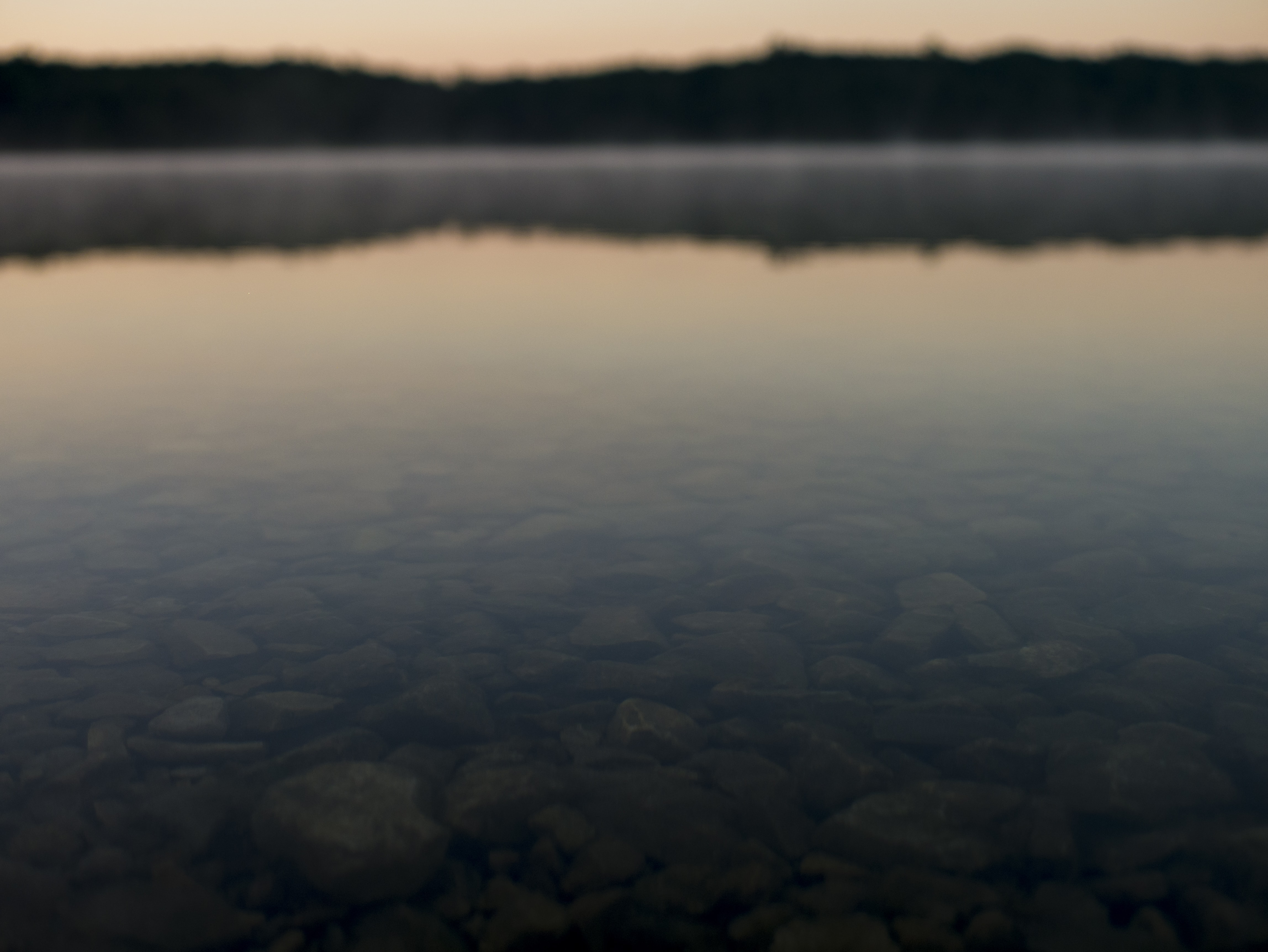body of water with bokeh effect