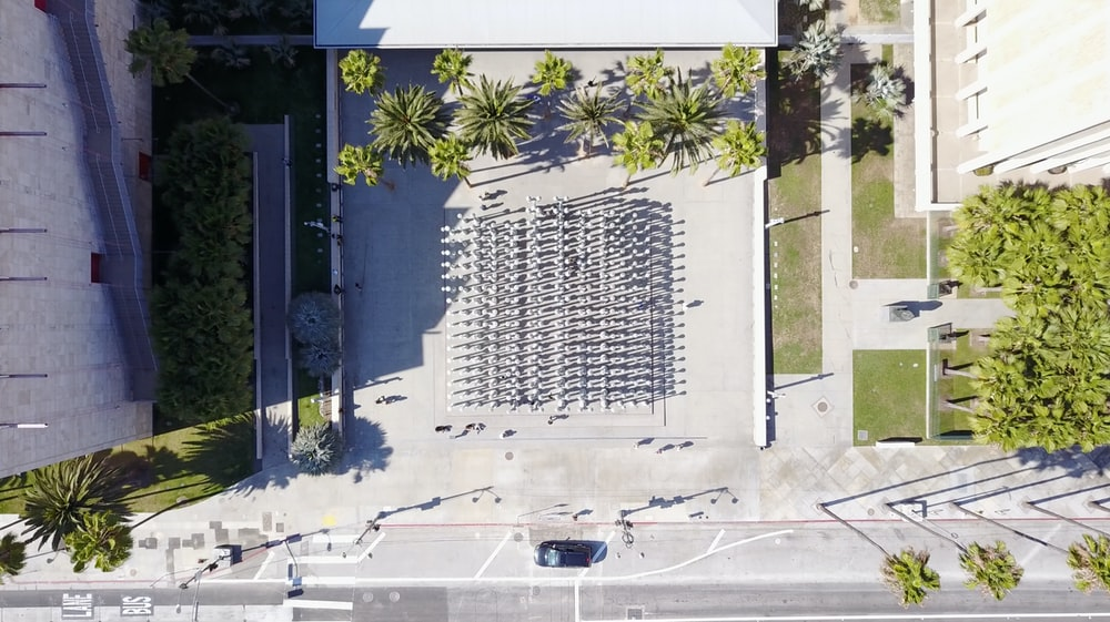 aerial view of open space