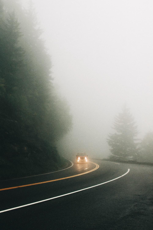 car road road near trees