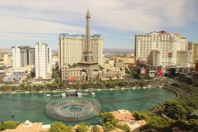 Beautiful fountain in Las Vegas