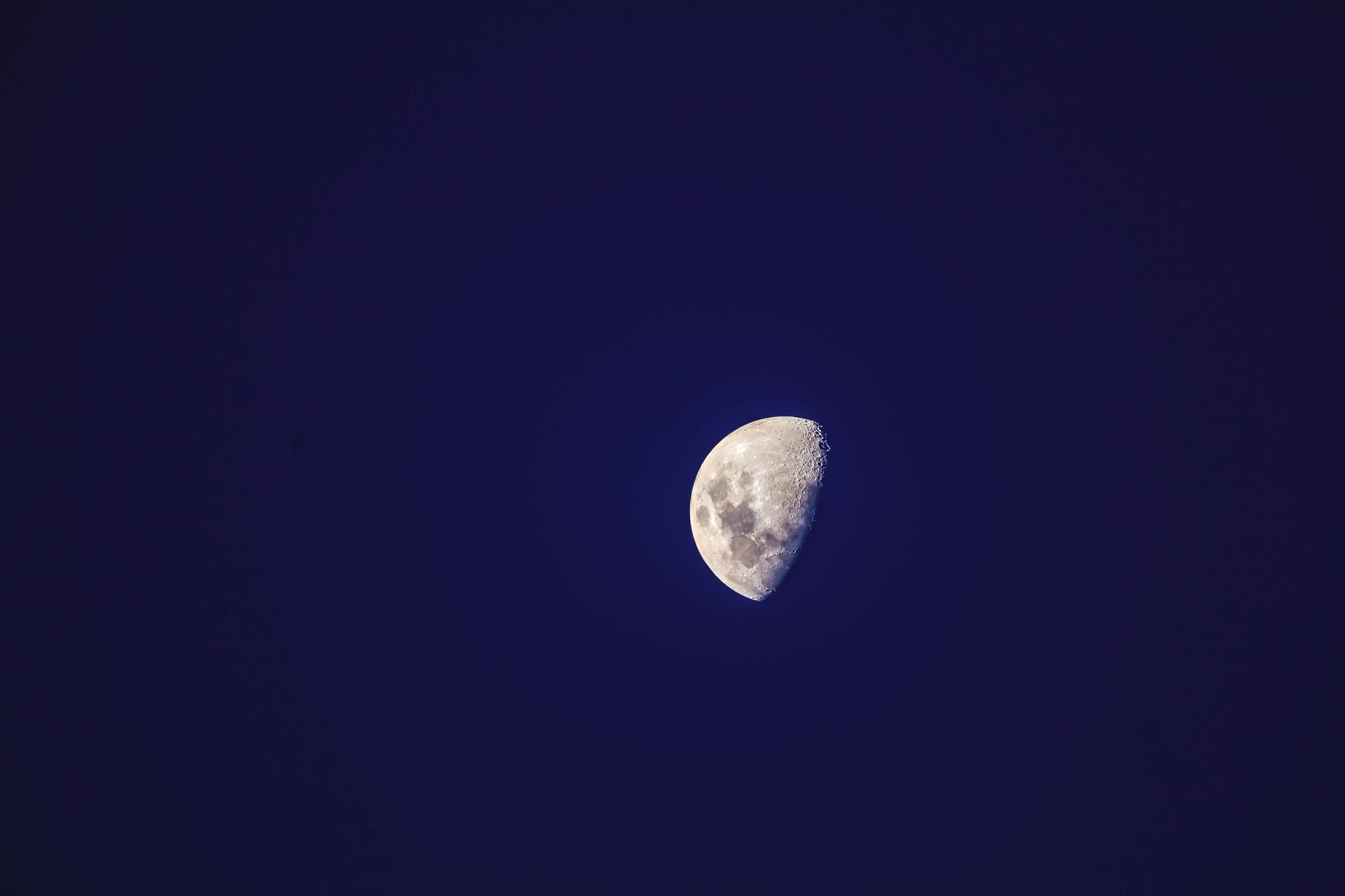photo of half moon