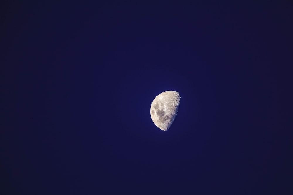 photo of half moon