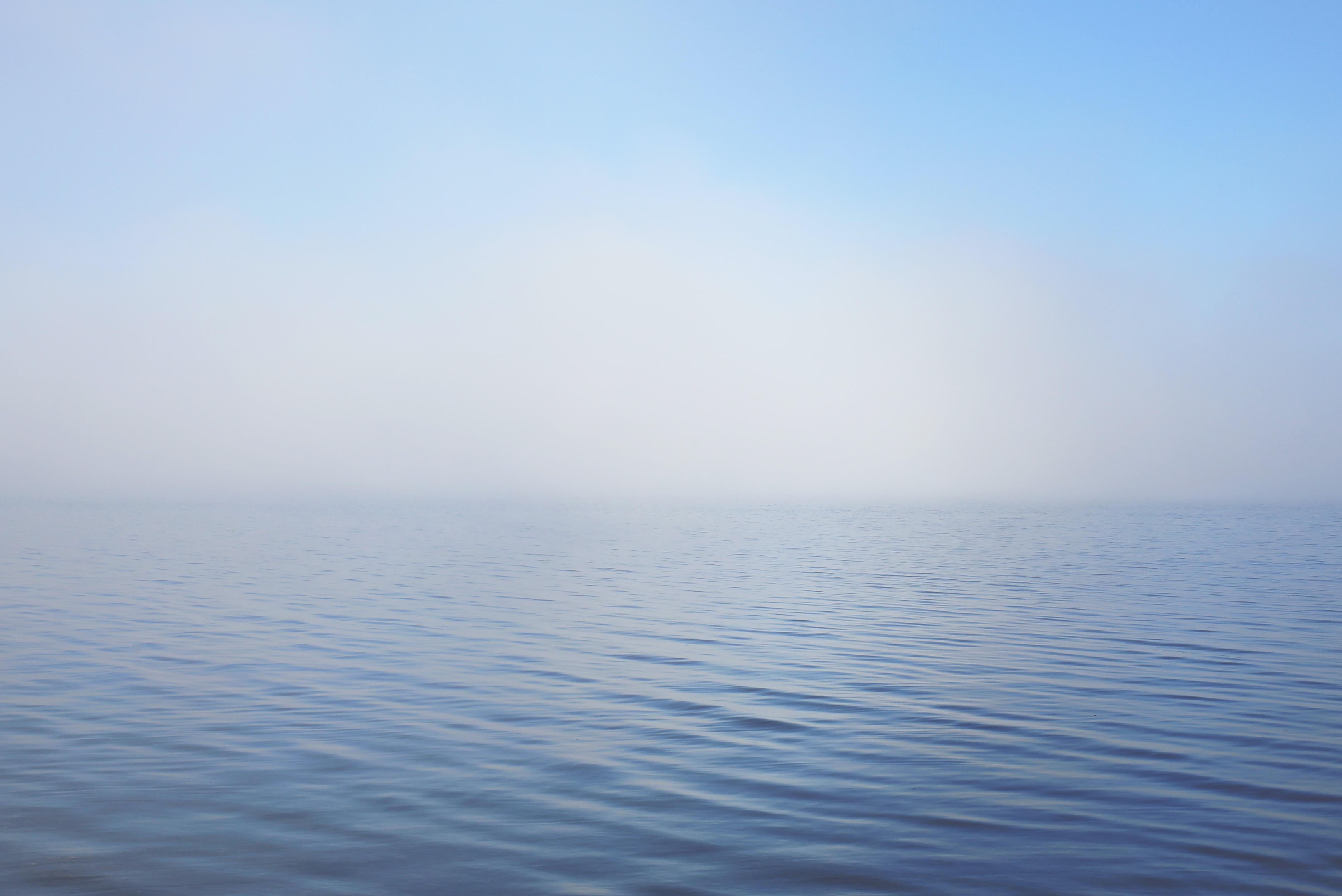calm blue ocean photography