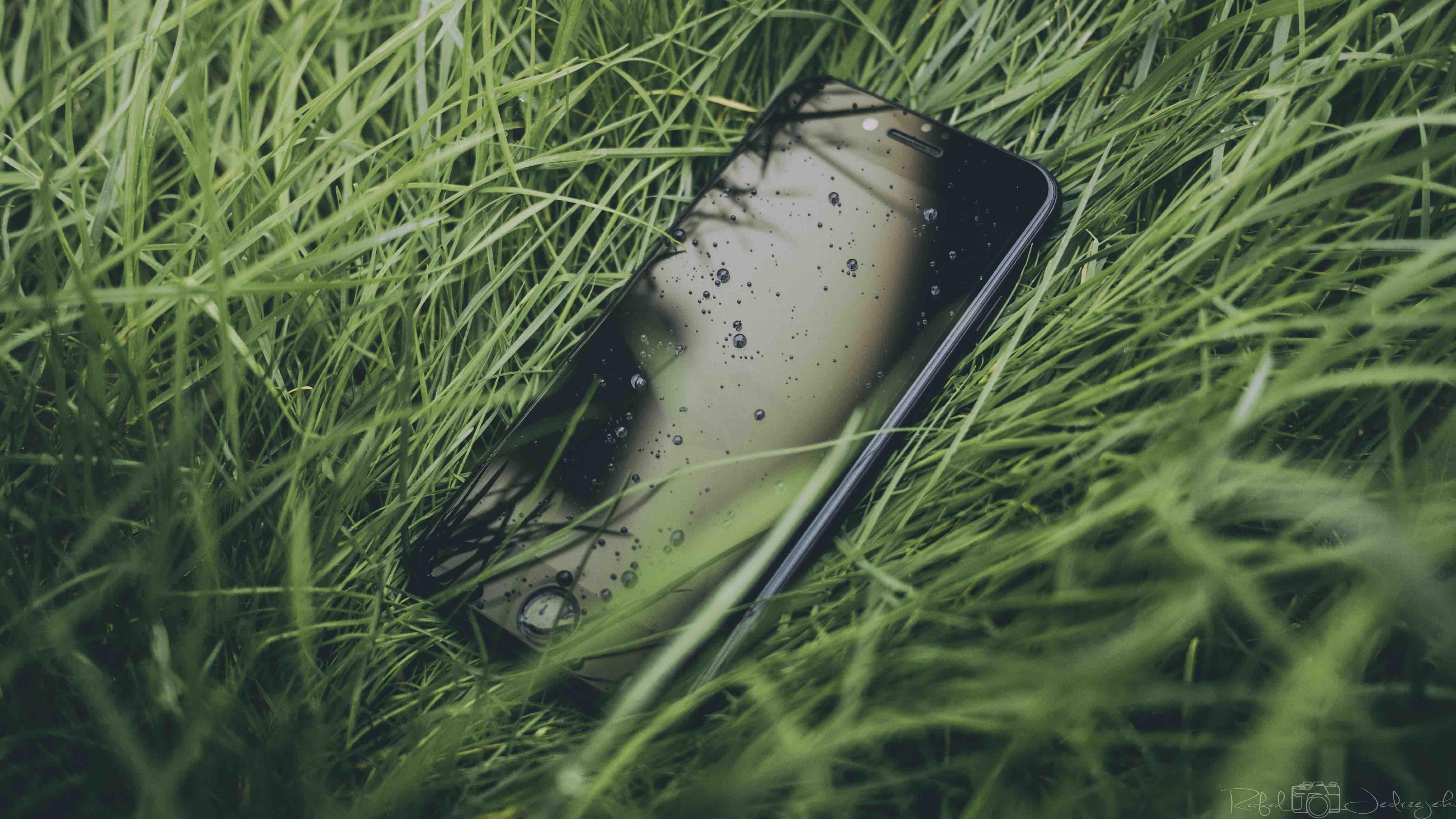 iPhone on grass field