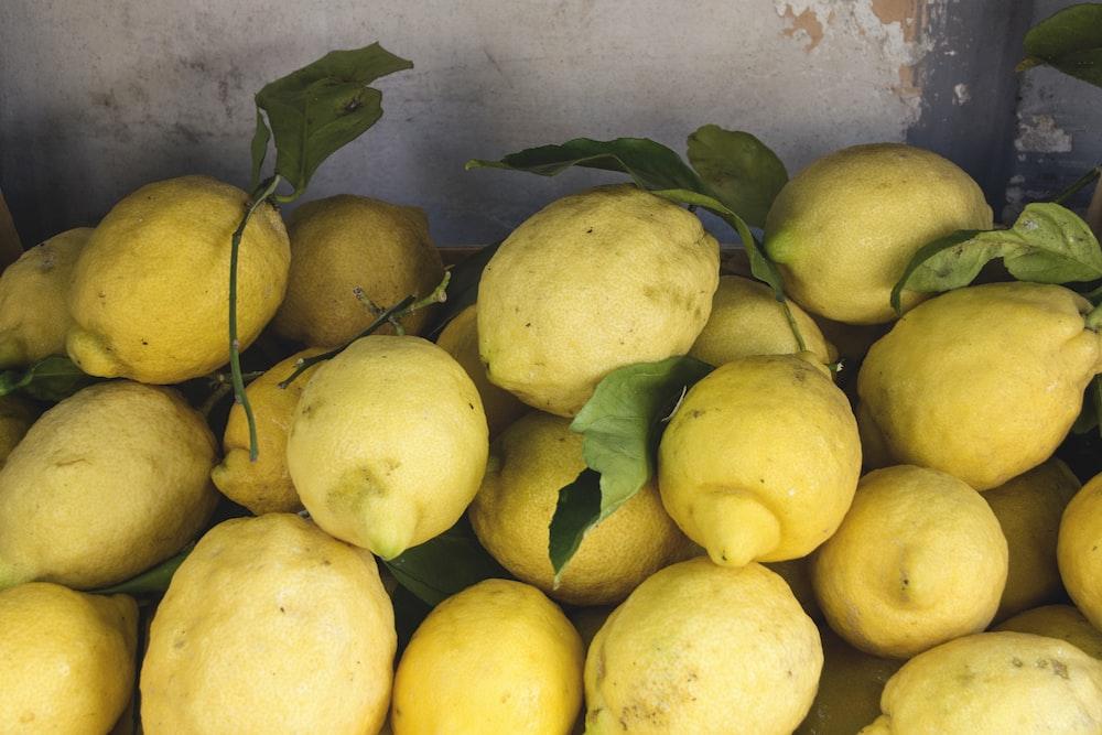 yellow citrus fruits