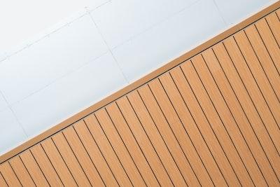 beige wooden planks line zoom background